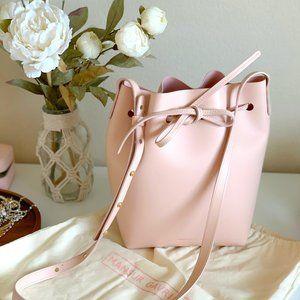 Calf Mini Bucket Bag - Rosa
